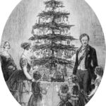 Christmas tree at Windsor Castle from The Illustrated London news, Christmas supplement1848