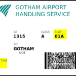 Boarding Pass Card